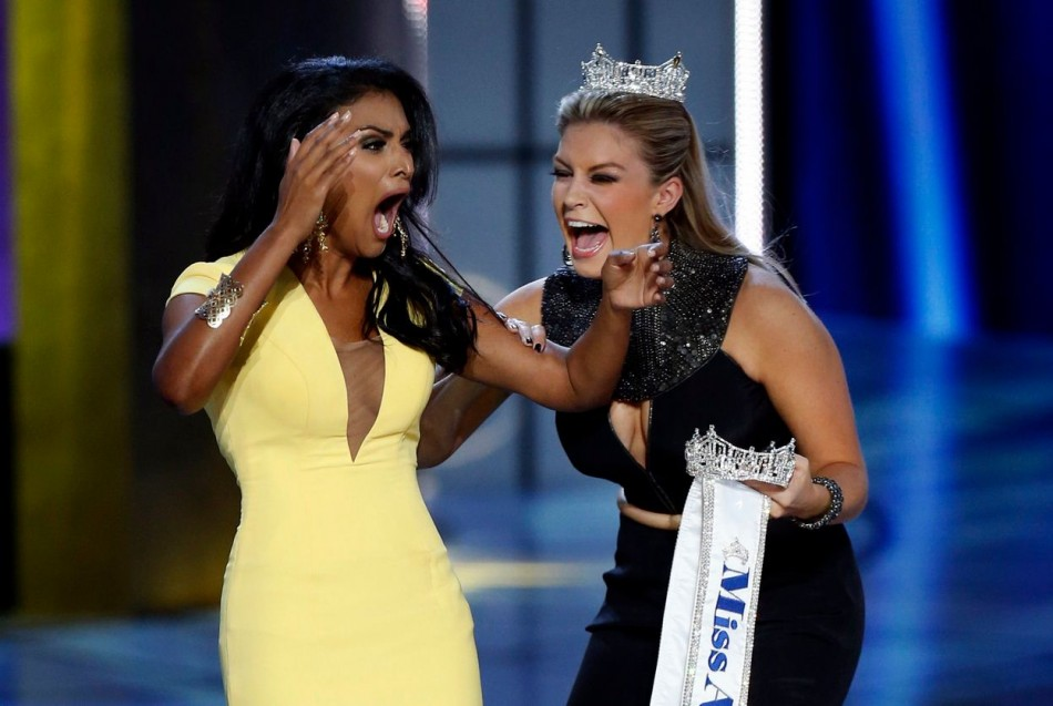 The reactions continued as she is announced the winner of the coveted title. (REUTERS/Lucas Jackson)