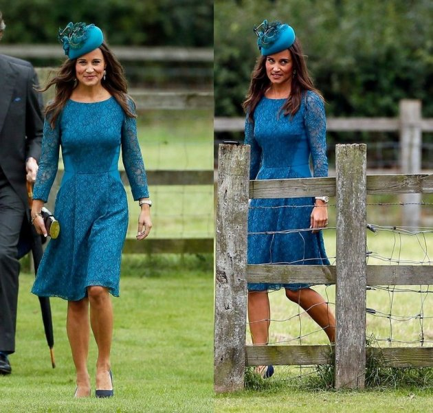 Pippa's ensemble made her look more elegant and attractive. (Reuters)