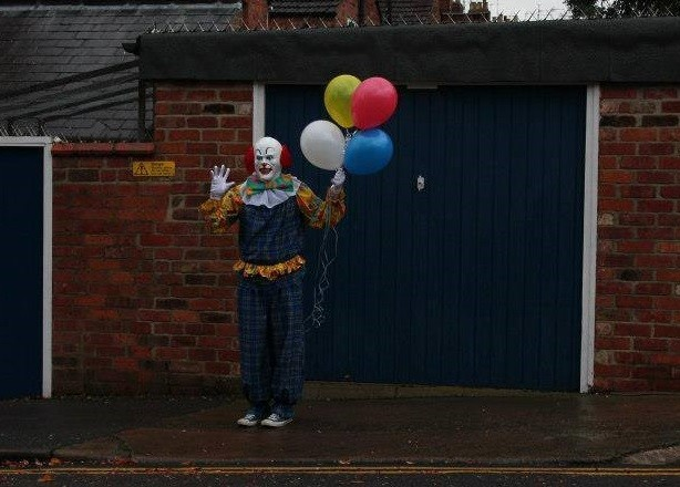 Clown causing a stir in Northampton PIC: Facebook