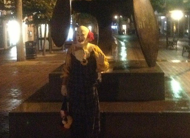 Northampton clown poses in town PIC: Facebook