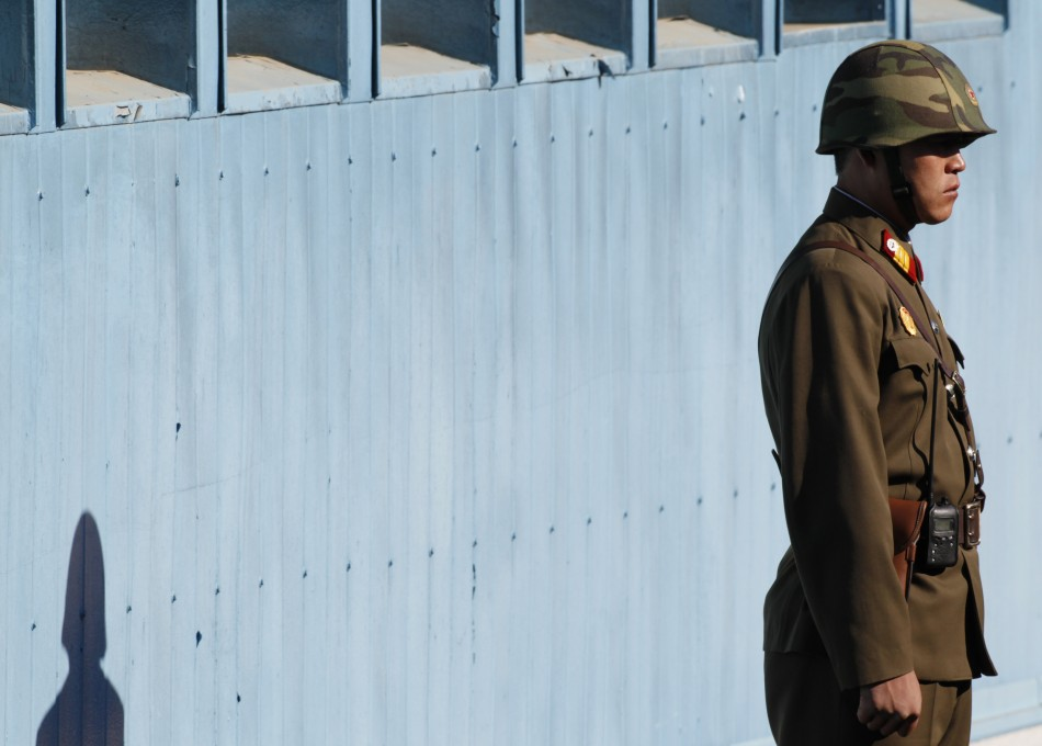 A North Korean soldier