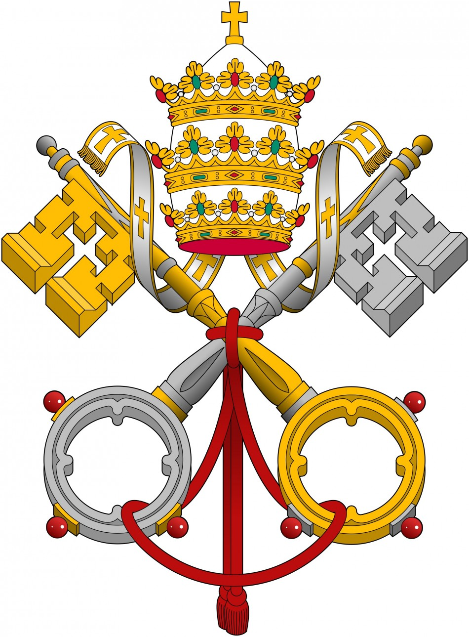 Emblem of APSA, or Institute for the Works of Religion, otherwise known as the Vatican Bank,