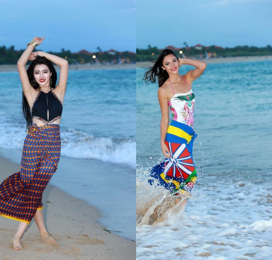 Miss World China 2013, Wei Wei Yu (L) and Miss World Spain 2013, Elena Ibarbia Jiménez (Photo: Miss World Organisation)