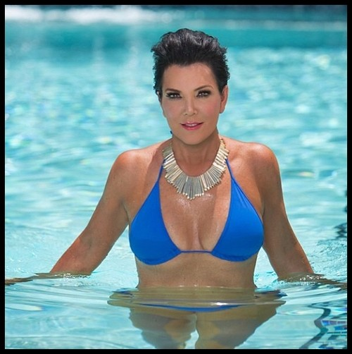 Kris Jenner Shows Off Her Cleavage In New Swimsuit Shot