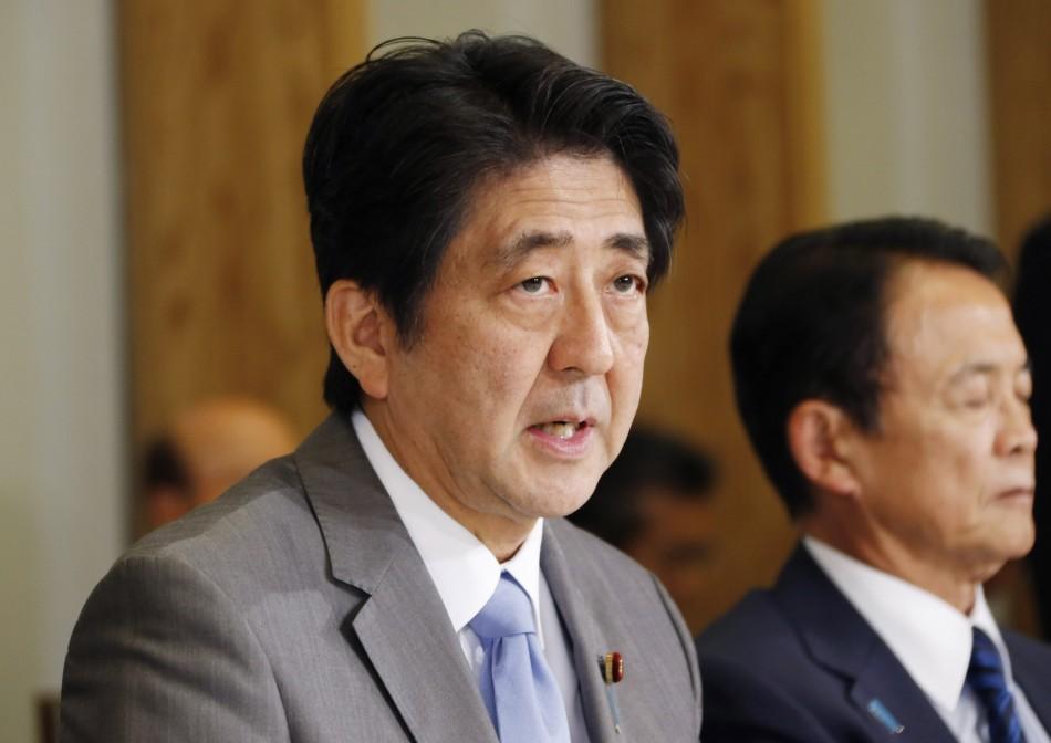 Shinzo Abe and Taro Aso