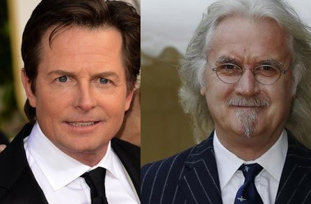 Michael J Fox and Billy Connolly