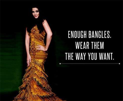 Aishwarya Rai wears a mermaid gown accentuated with gold bangles for jewellery brand/Facebook/AishwaryaRai