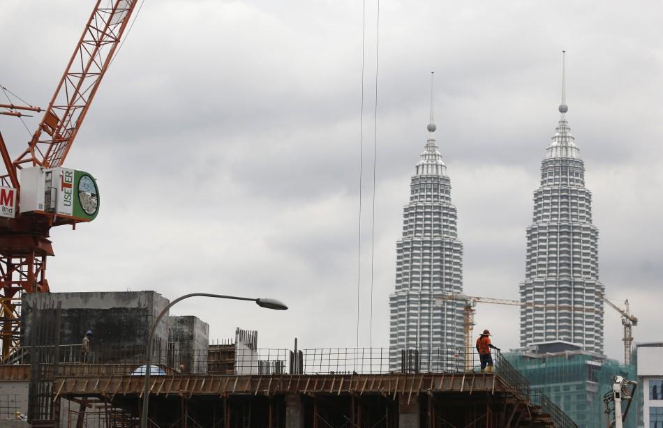 Malaysia's landmark Petronas Twin Towers in Kuala Lumpur