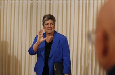 Janet Napolitano, Secretary, Department of Homeland Security, United States.