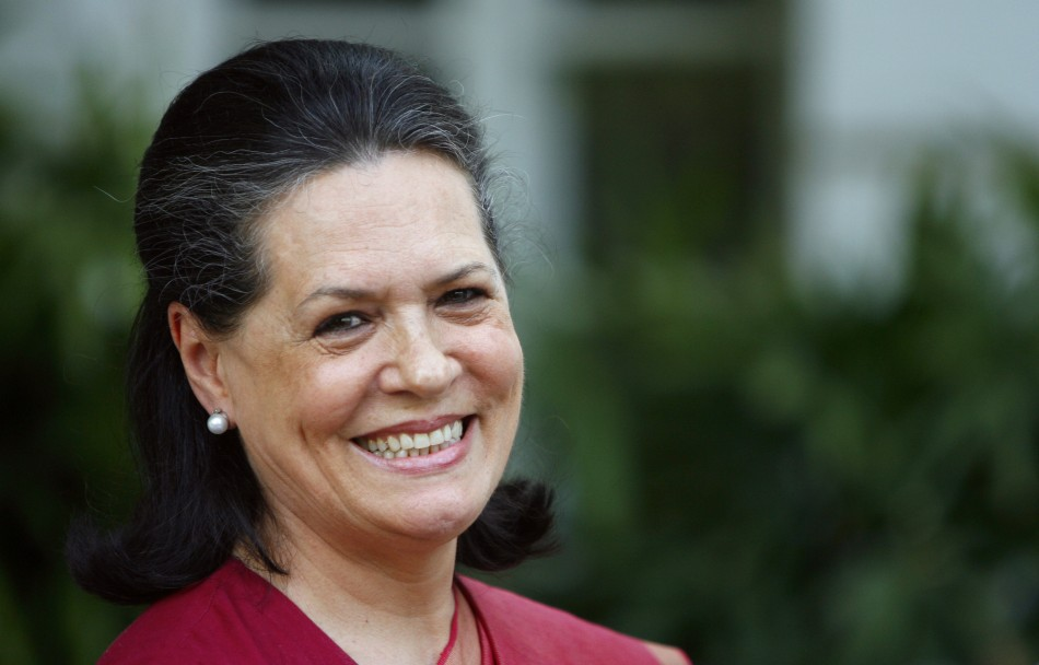 Sonia Gandhi, President of the Indian National Congress. India.