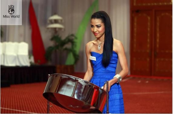 Miss Trinidad & Tobago will be showing off her steel drum skills/Missworld.com