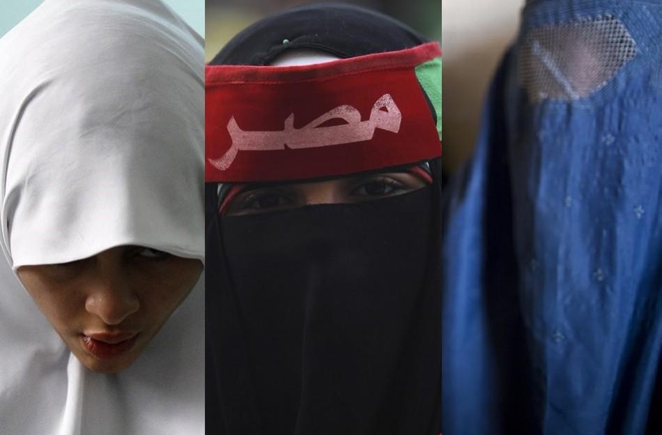 hijab, niqab and burqa