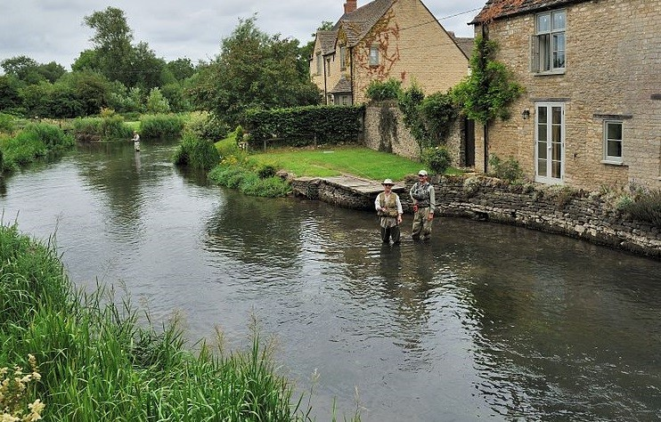 The River Coln in Fairford, where the skeleton of an African woman has been found PIC: Reuters