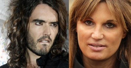 Russel Brand and Jemima Khan