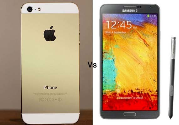iPhone 5s Vs Galaxy Note 3