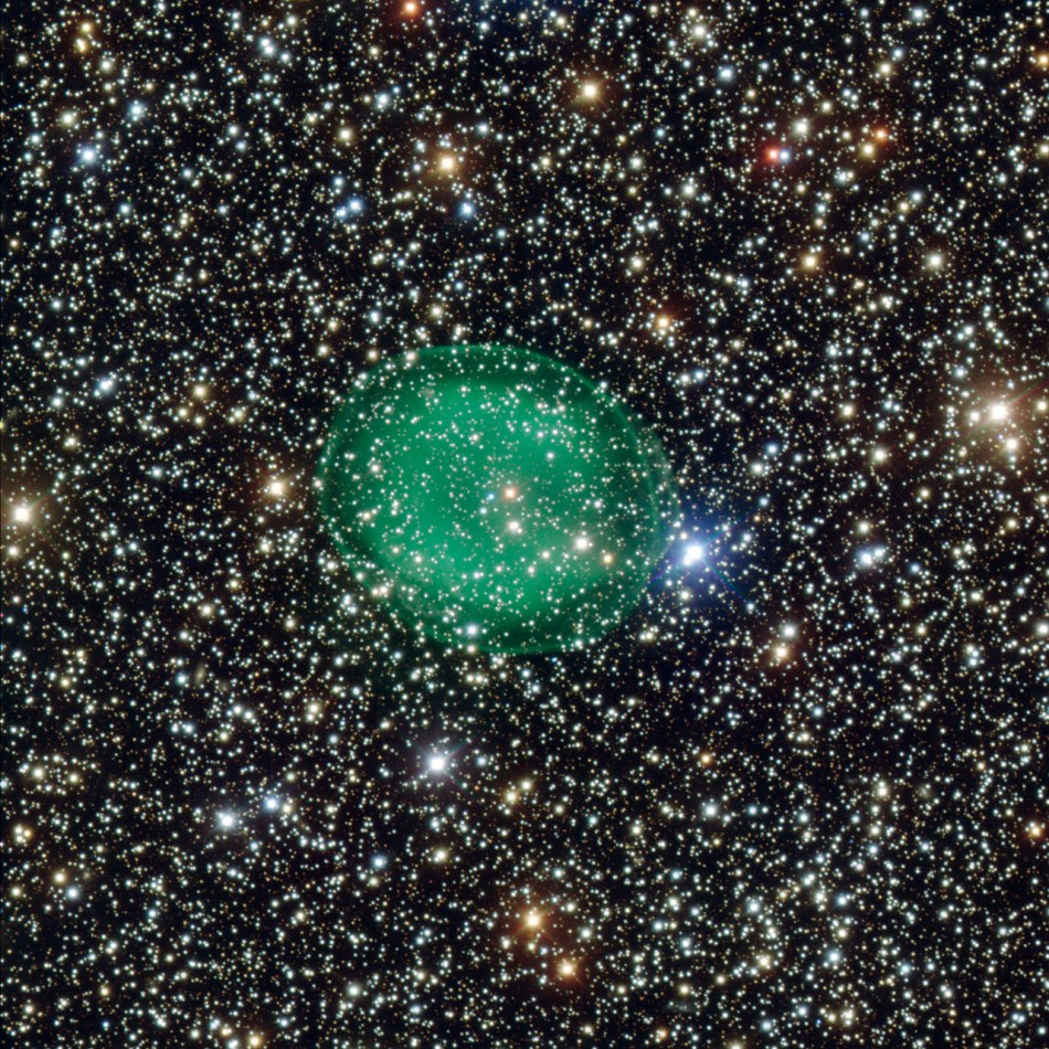 Ghostly Green Bubble