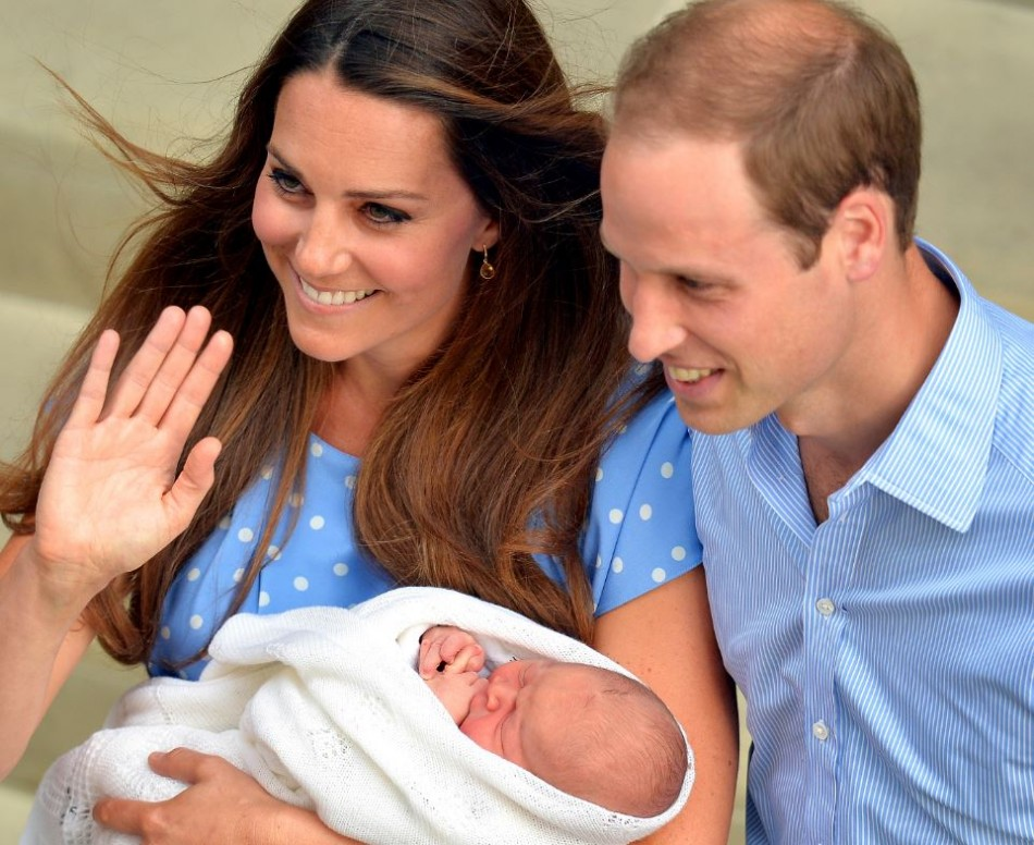 Kate Middleton and Prince William took their son Prince George to meet Prince Philip, the Duke of Edinburgh, for the first time.