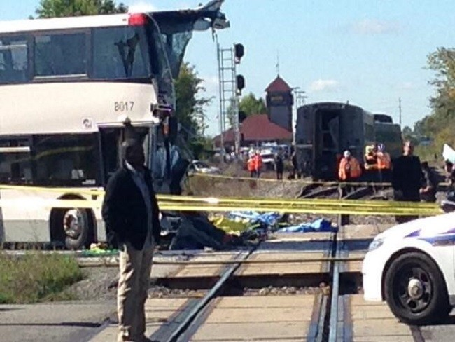Canada bus train crash ottawa