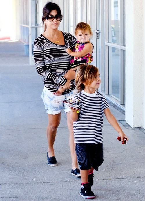 Kourtney Kardashian, son Mason, and daughter Penelope