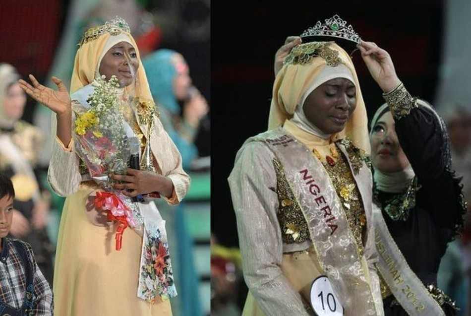 Obabiyi Aishah Ajibola is the first contestant from Nigeria to win the pageant, which started in 2011. (Photo: WorldMuslimahFoundation/Facebook)