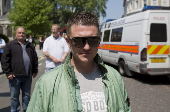 Tommy Robinson, leader of the English Defence League PIC: Reuters