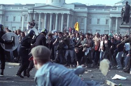 Poll tax riots helped bring down Thatcher