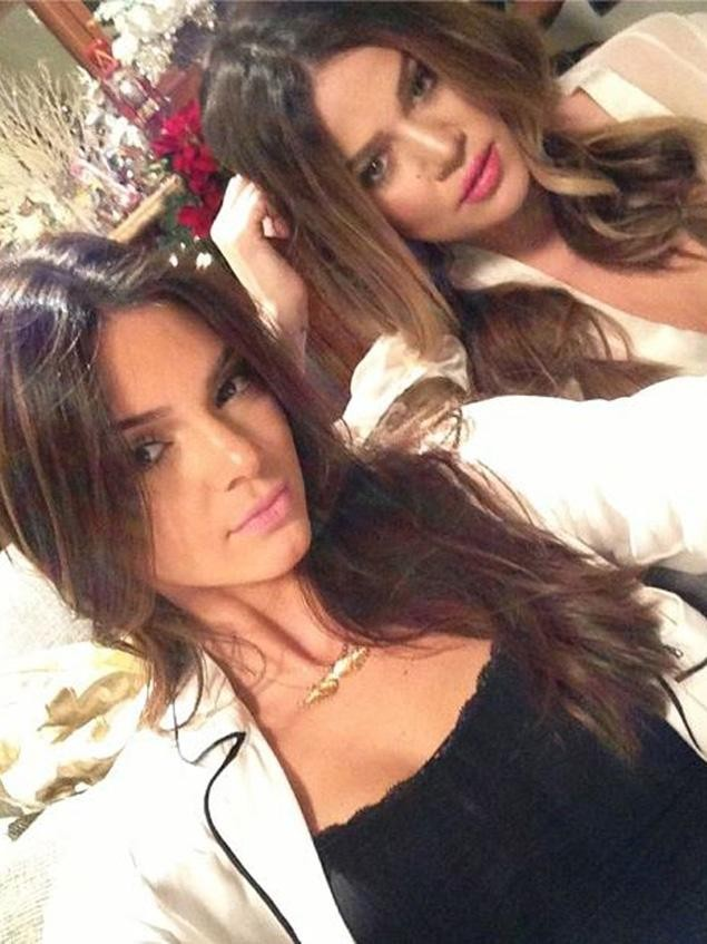 She also posted pictures with Kendall and Kylie Jenner/Instagram/KhloeKardashian