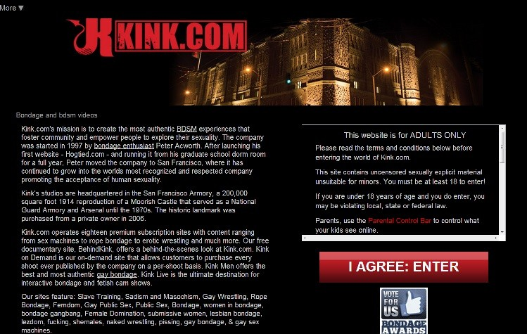 Kink.com cited by HIV  porn star in criticism of standards PIC: Kick.com