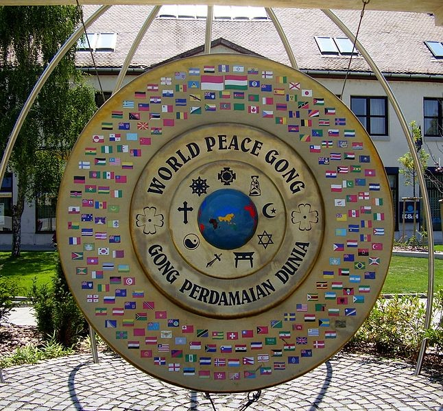 The World Peace Gong is a symbol of world peace. It was made in Jepara,Indonesia. The contestants will be visiting the Bali World Peace Gong[MissWorld.com]