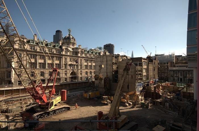 Crossrail works at Liverpool Street