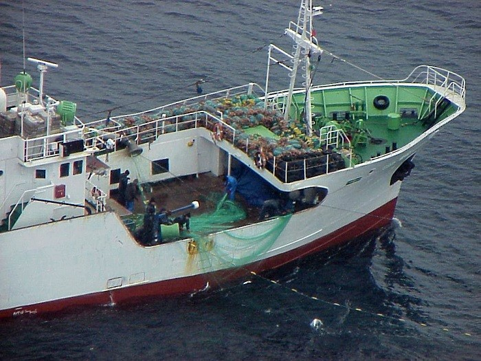 Russian fishing vessel