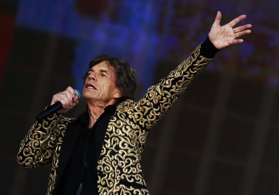 Mick Jagger performs in Hyde Park, London, in July.