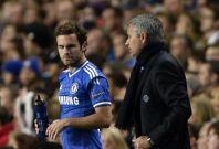 Juan Mata and Jose Mourinho