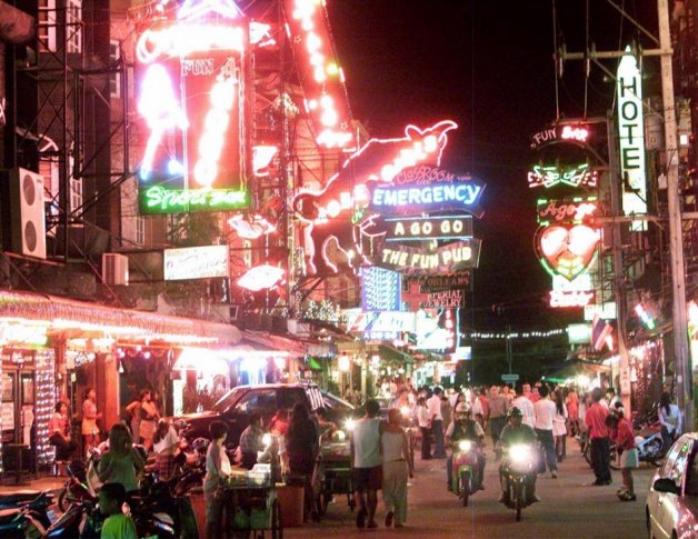 The red light district in Pattaya, Thailand.