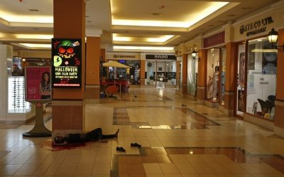 A womans body in Westgate shopping centre in Nairobi
