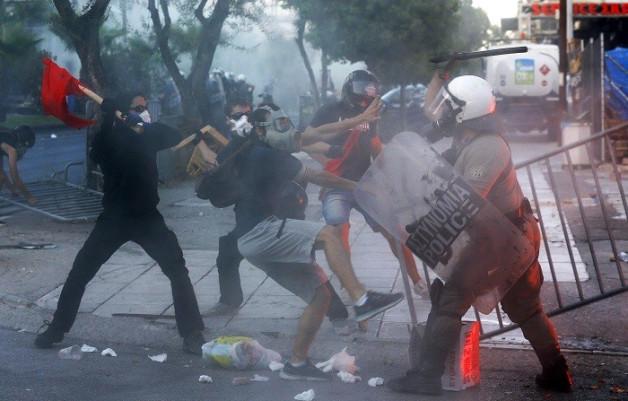 Greek Golden Dawn protests