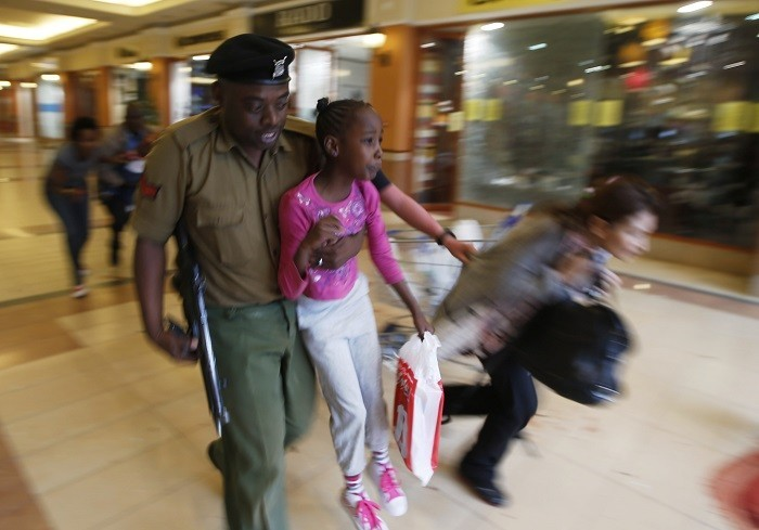 Westgate Mall, Nairobi, where Islamic terrorists are holed up with hostages