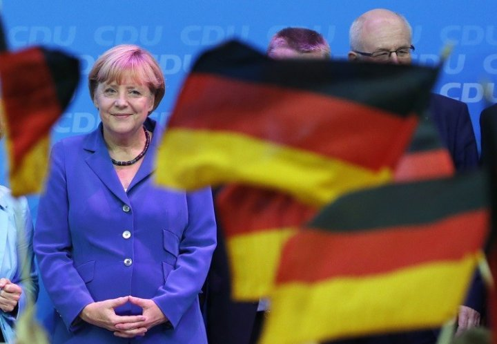 German chancellor Angela Merkel wins the german elections 2013 for the third term (Photo: Reuters)