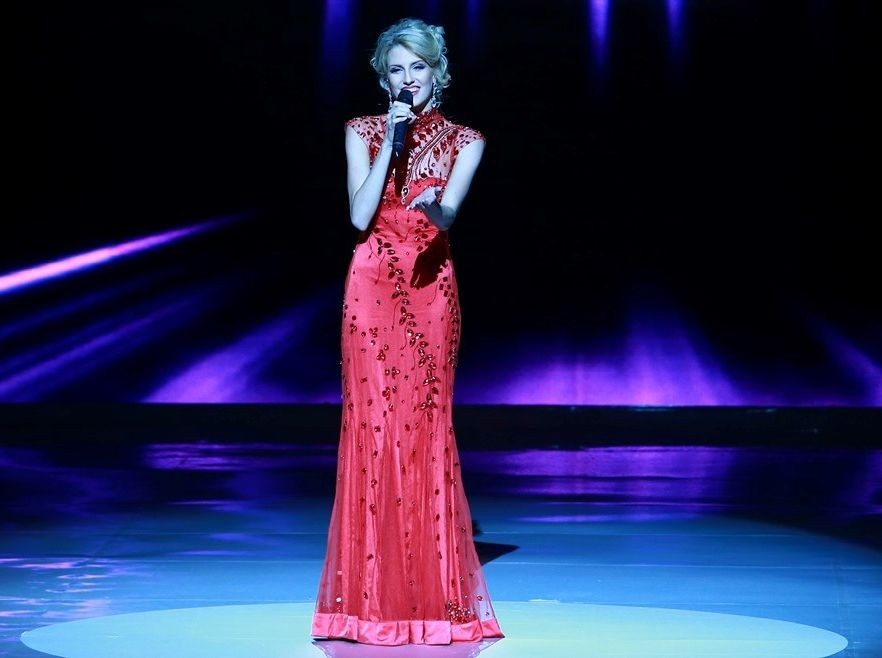 Miss Australia sang 'Someone Luke You' from Jeckyl and Hyde. (Photo: Miss World Organisation)