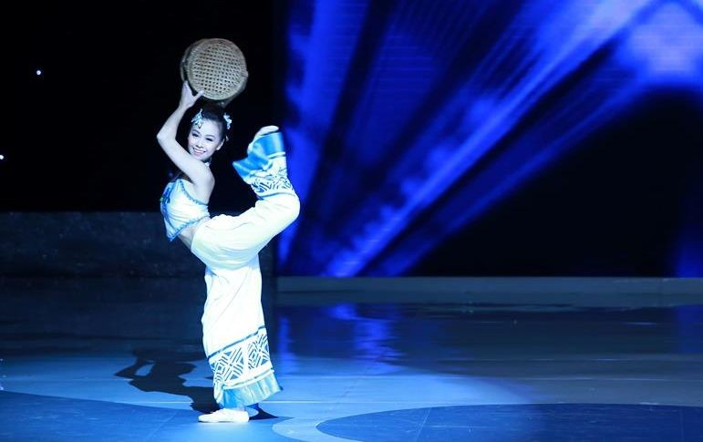 Miss Hong Kong China displayed a Chinese traditional dance with a contemporary feel. (Photo: Miss World Organisation)