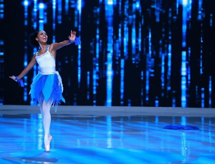 Miss Dominica chose to display her highly technical ballet 'en pointe'. (Photo: Miss World Organisation)