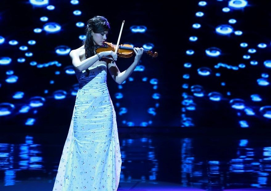 Miss Slovakia performed the theme from the film Schindler's List on the violin. (Photo: Miss World Organisation)