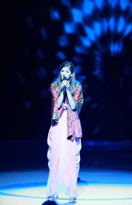 Miss Ukraine wrote and performed her own song, 'Moment of Glory' in her native tongue. (Photo: Miss World Organisation)