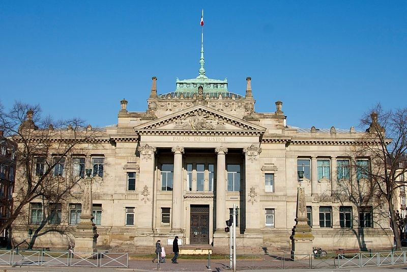 Palais de justice, Strasbourg where Sabrina Bonner faces child sex charges relating to the rape of her own son PIC: Wikicommons
