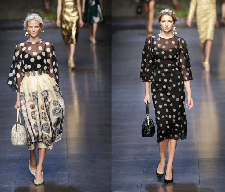 These pretty black dresses in polka dots from Dolce