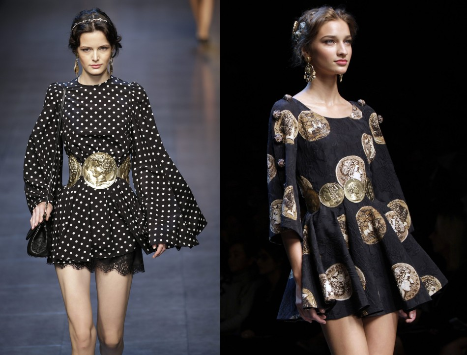Black is definitely a colour for spring style; at least, Dolce&Gabbana's collection suggests so. (Photo: REUTERS/Max Rossi)