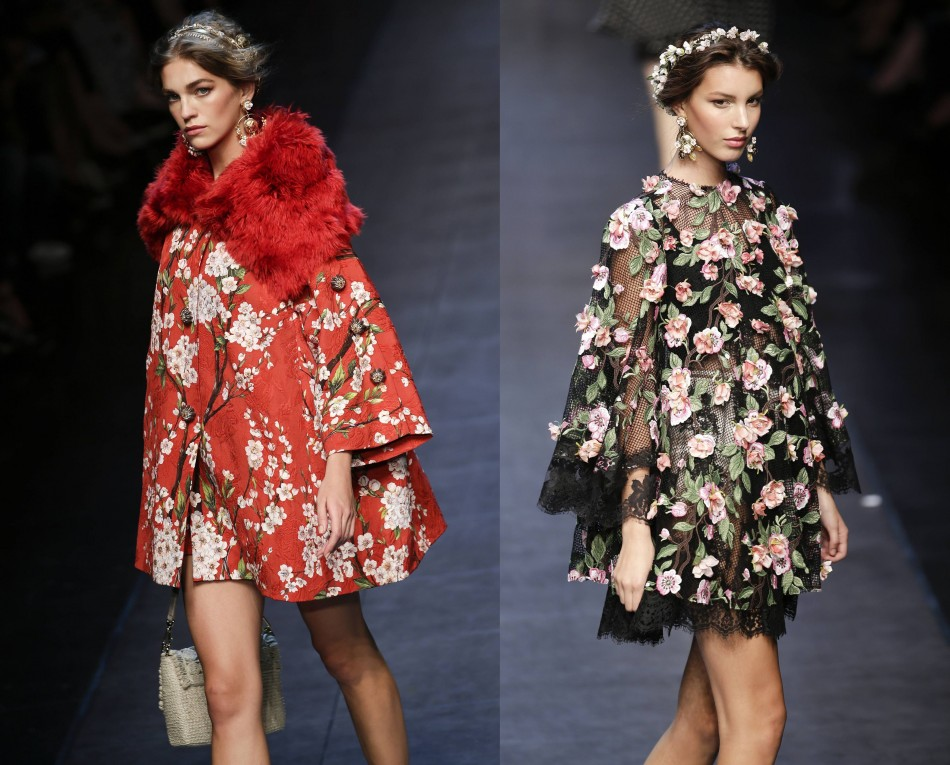 Winter styled tops with floral prints from Dolce&Gabbana's collectionare a must have. (Photo: REUTERS/Max Rossi)