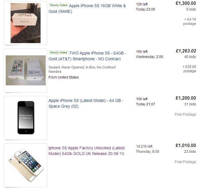 iPhone 5S ebay