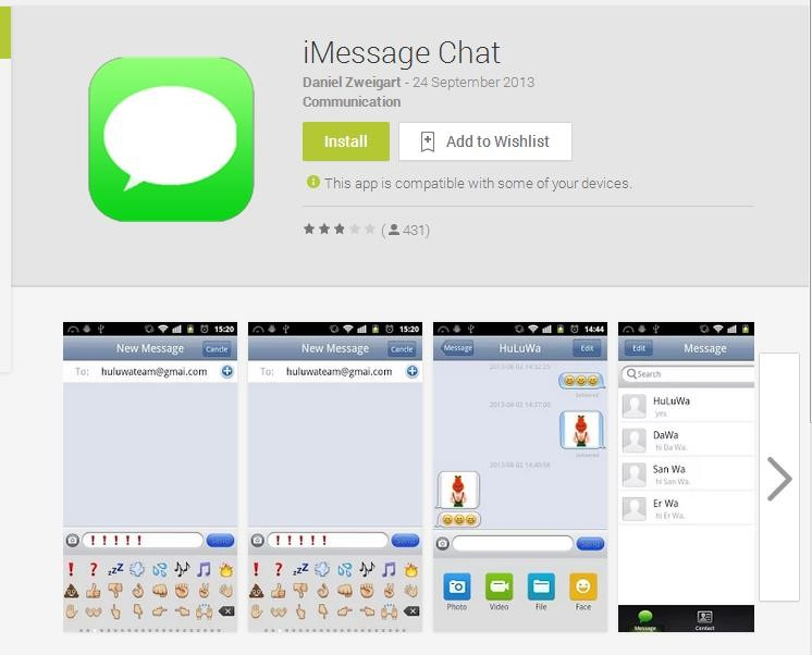 iMessage Chat for Android