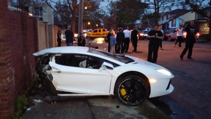 Lamborghini Aventador Splits In Half In Spectacular